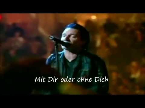 U2  With Or Without You Lyrics Deutsch Best  Version