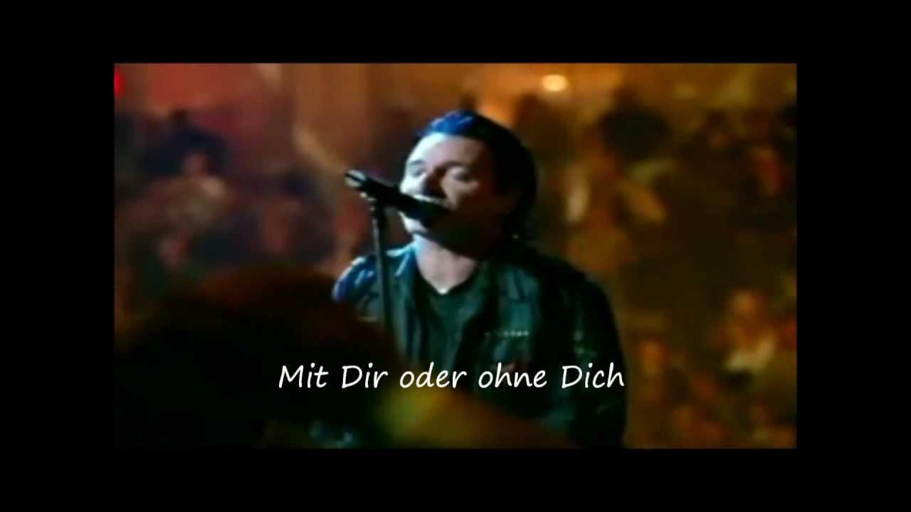 U2 - With Or Without You (Lyrics Deutsch) (Best Live Version)