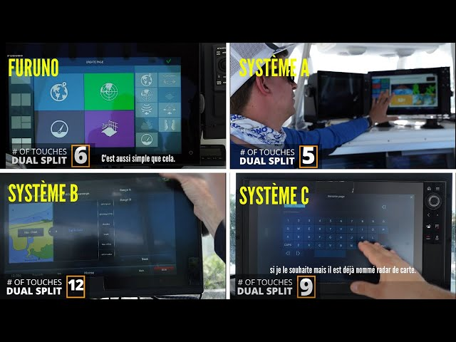 Comparaison Interface - Affichage - Contrôle hybride & tactile | Furuno NavNet TZtouch 3 vs 3 MFD