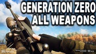 GENERATION ZERO - ALL WEAPONS