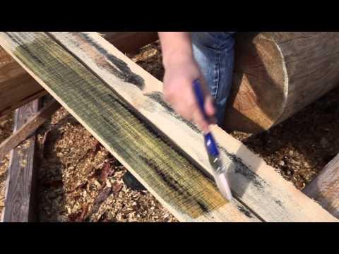 Пропитка для дерева Megasept. Тест  на пиломатериалах. Отбеливатель древесины.