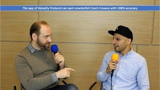 The app of Veracity Protocol can spot counterfeit Czech Crowns with 100% accuracy