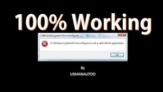 [100%] How to Fix .Exe Not a Valid Win32 Application In all windows