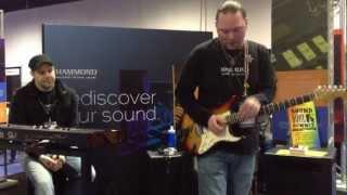 Kraft Music - Hammond Leslie Pedal Demo at NAMM 2013