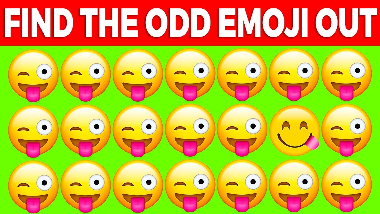 CAN YOU FIND THE ODD EMOJI OUT? (QUIZ)