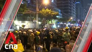 Thai protesters march to German embassy as parliament opens special session