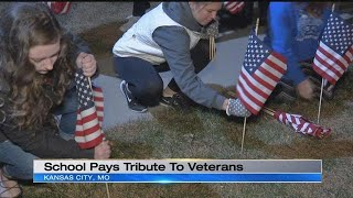 Staley High School students give hero's welcome ahead of Veterans Day