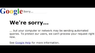Google we're sorry(We're sorry... ... but your computer or network may be sending automated queries. To protect our users, we can't process your request right now., 2014-06-13T23:30:22.000Z)