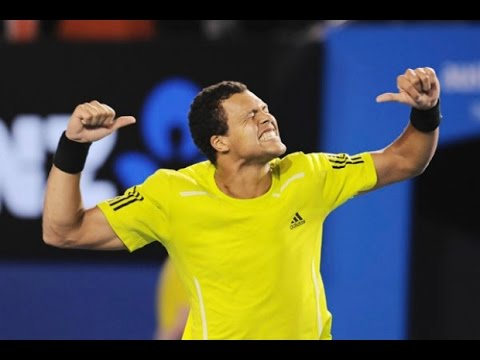 Jo-Wilfried Tsonga VS Novak Djokovic Highlight 2010 AO QF