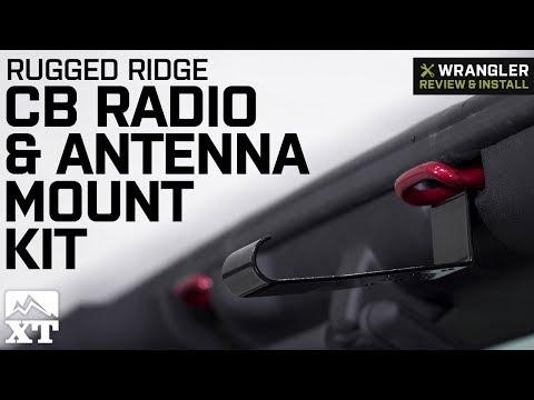 Jeep Wrangler Rugged Ridge CB Radio & Antenna Mount Kit (2007-2018 JK) Review & Install