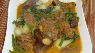 Pinoy Recipe - Kare-kare [stew Beef With Vegetables]