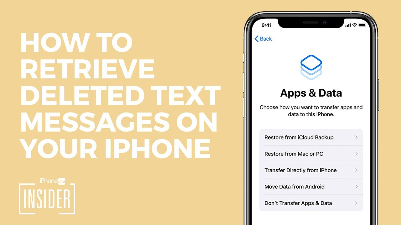 Texts iphone check on to deleted how 💋 How to