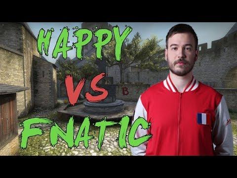 CSGO: POV nV Happy vs fnatic (28/17) cobblestone @ ESL Pro League Season 7 EU