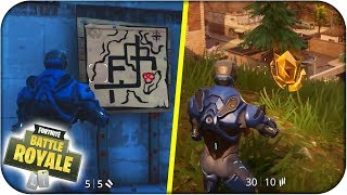 EMPLACEMENT SECRET TREASURE MAP PLEASURABLE PARK! FORTNITE: Bataille Royale - Rubenillo17