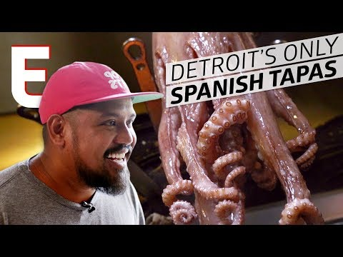 Grilled Octopus at Detroit's Only Spanish Tapas Restaurant — Cooking In America