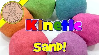 Rainbow Kinetic Sand!  I Mix & Make Colors