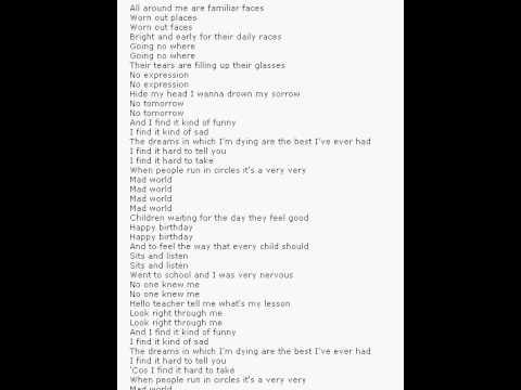 Tears of fears lyrics