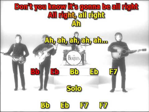 Revolution Beatles best karaoke instrumental lyrics chords