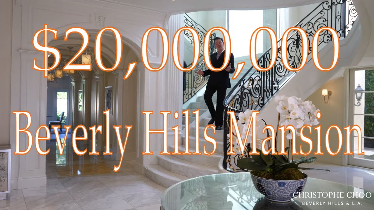 Incredible Beverly Hills Luxury Mansion Tour | Christophe Choo | Official Video | For Sale or Lease