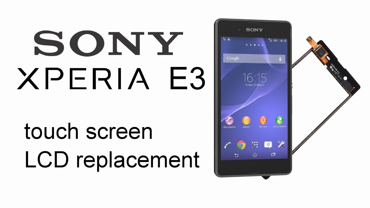 sony xperia e3 disassmbly how to replace touch screen digitizer or lcd display [ 1280 x 720 Pixel ]