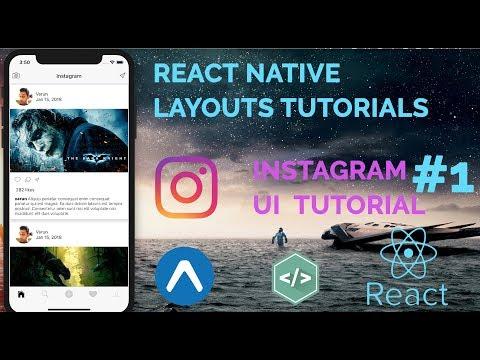 #1 Instagram UI Tutorial | React Native Layout(UI) Series