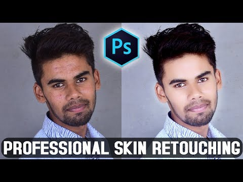How To Professional Skin Retouching Photoshop CC Tutorial In Hindi thumbnail