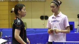 平成23年度 日本卓球リーグプレーオフ <JTTLファイナル4> 彭雪(サンリ...