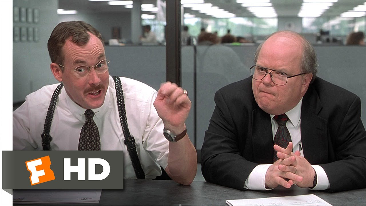 Office space 3 5 movie clip motivation problems 1999 for Office space pics