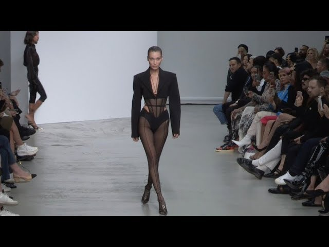Bella Hadid and more on the runway for the Mugler SS20 Fashion Show