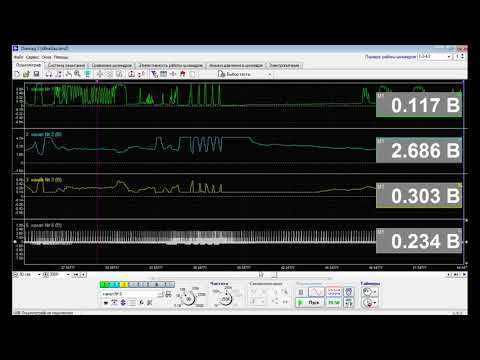 осциллограф ДК+искра+вольты с ШДК