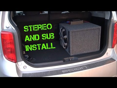 2008 Scion XB Build 3 (Stereo And Subwoofer Install)