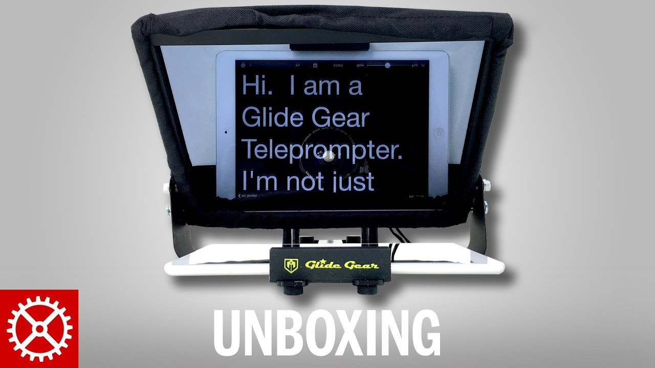 Glide Gear TMP 100 Teleprompter for iPad and Smartphone Unboxing