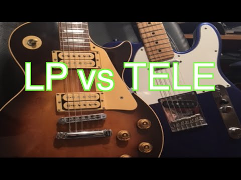 Les Paul vs Tele! Who Has Better Tone ( + Free Backing Track)