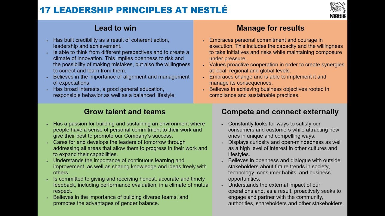 nestle core competencies Core competencies are rarely this broad and it is always a mistake to assume that abilities in one area of business are matched in others just because the product happens to be the same very few breweries can run good pubs, for example.