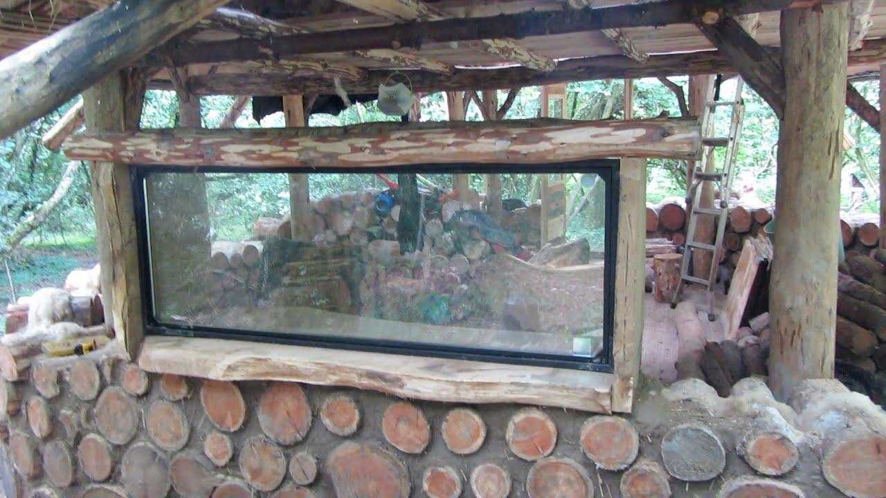 off grid roundhouse build part 16 oak window frames