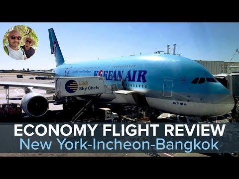 Korean Air Economy Class Flight Review: New York✈️Incheon✈️Bangkok