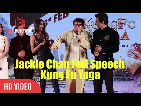 Jackie Chan Full Inspiring Speech | Kung Fu Yoga Promotions In India | Viralbollywood