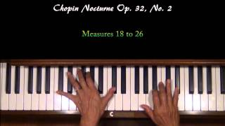 Chopin Nocturne Op. 32, No. 2 Piano Tutorial SLOW