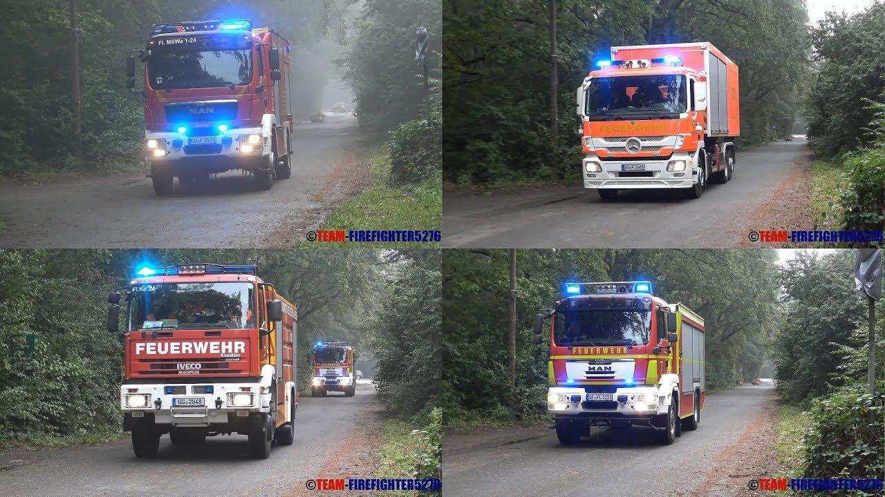 Baumarkt Walldorf große waldbrandübung mit 8 feuerwehren in mörfelden walldorf
