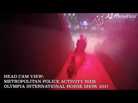HEAD CAM VIDEO: Met Task Force at Olympia International Horse Show 2017
