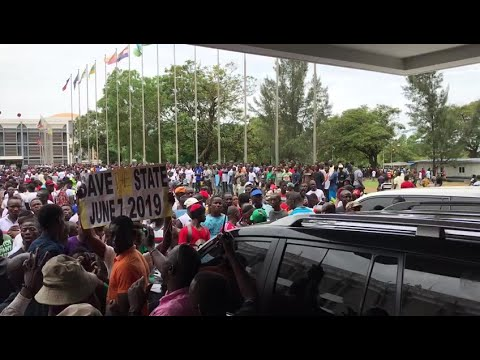 Demonstrators take to streets of Monrovia in protests over economy   AFP