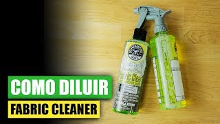 Como Diluir Fabric Clean - Chemical Guys Car Care