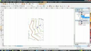 Чертеж топосъемки в CorelDraw(Использование инструмента