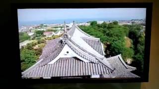 井伊直弼公生誕200年祭で彦根市が天秤櫓で開催したイベント会場に 設置...