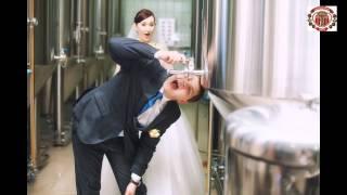 Жених и невеста на пивоварне