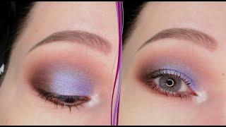 Голубой макияж глаз в стиле смоки айс за 5 минут Пошаговый урок