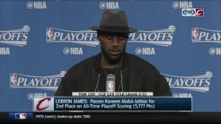 LeBron James on passing Kareem Abdul-Jabbar | Cavs vs. Raptors NBA Playoffs