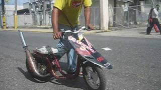 kiko lima racing en la 80 scooter racing