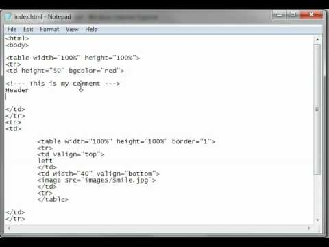 HTML Tutorial 14 - Comments