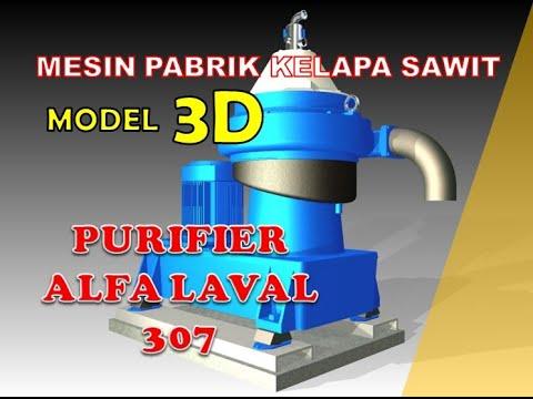 CREATE ANIMATION Model 3d Palm Oil Purifier Alfa Laval 307